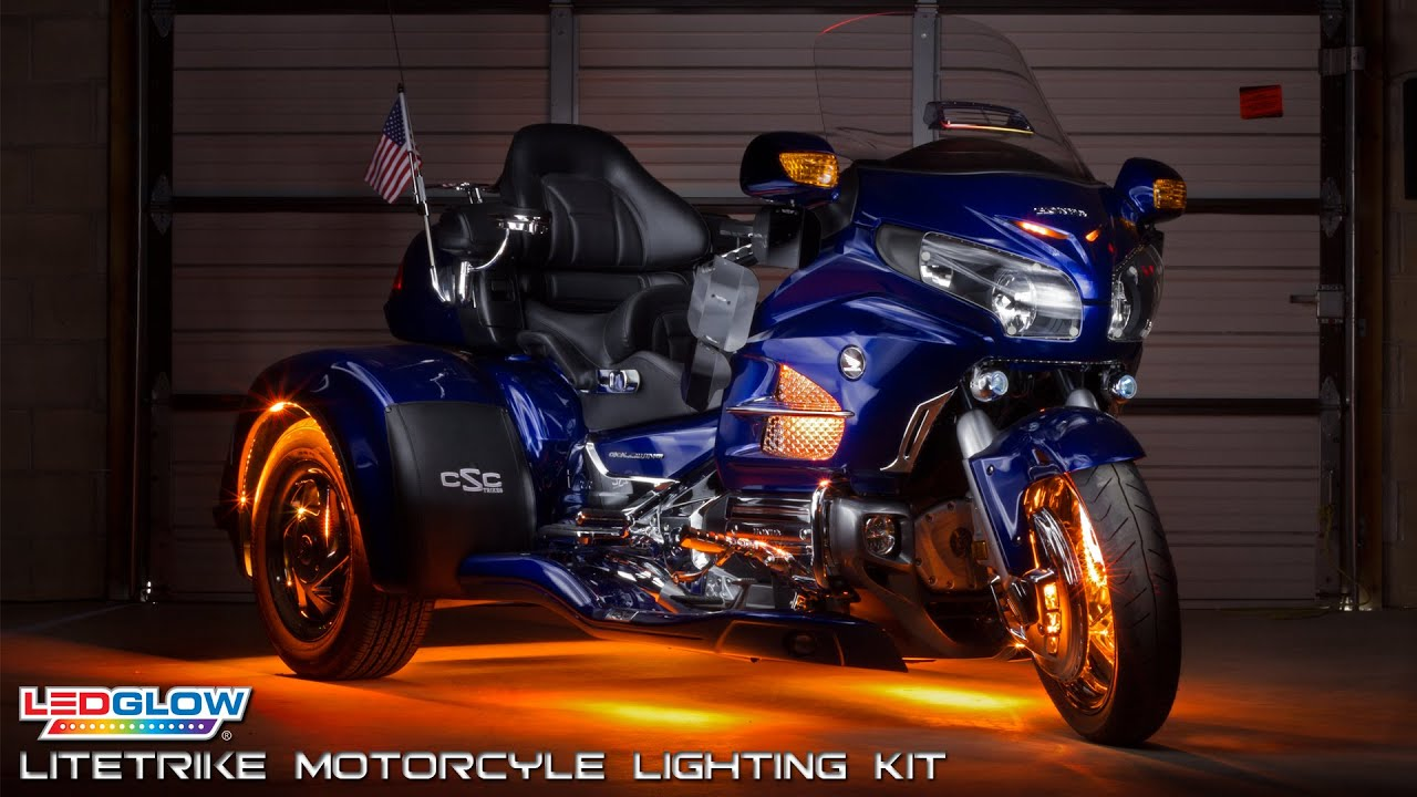 Ledglow Litetrike Motorcycle Lighting Kit Youtube
