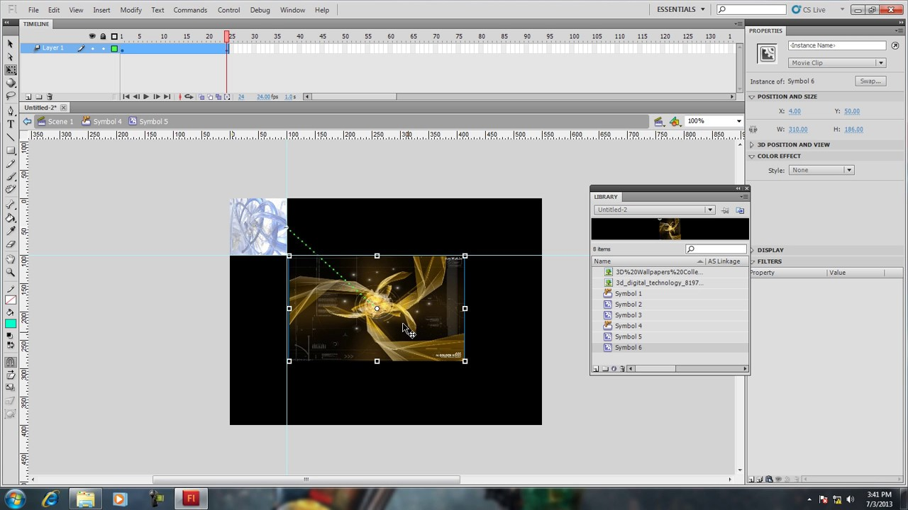 How to make a play button for an animation in adobe flash cs4.