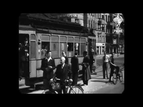 1946 - Kurfürstendamm Street in Berlin (real sound)