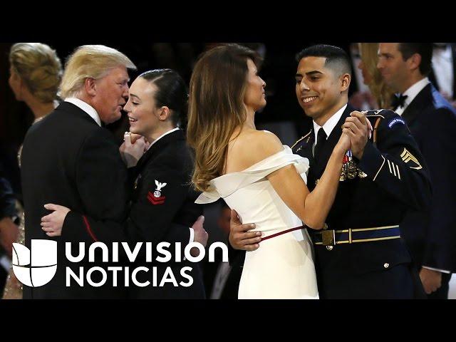 Donald Trump le concede a soldado inmigrante una pieza con la primera dama en baile inaugural
