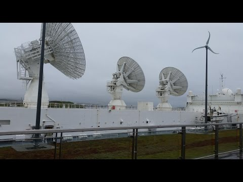 checking out the french radar ship  FS Monge A601