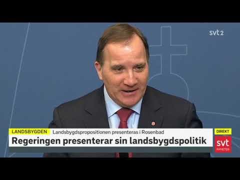 Stefan Löfven om landsbygden 2018-03-19