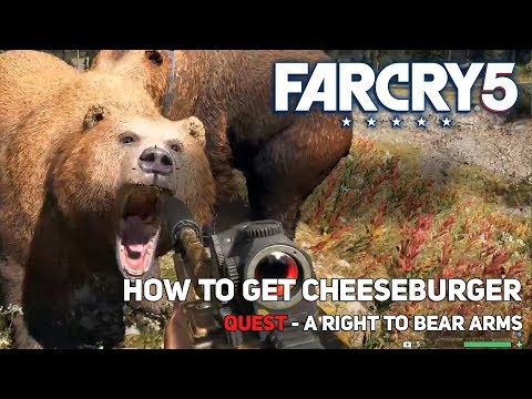 Far Cry 5 : how to get cheeseburger A right to bear arms Quest
