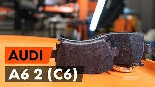 Kā nomainīt aizmugures bremžu kluči / bremžu uzlikas AUDI A6 2 (C6) [AUTODOC VIDEOPAMĀCĪBA]