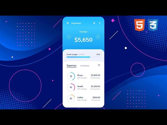 Budget Expense App | UI Design to HTML, CSS