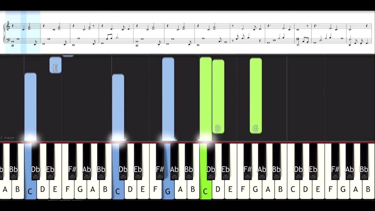 How to play here i am to worship piano tutorial youtube.