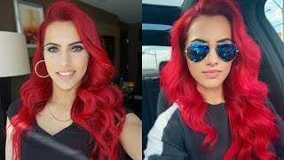 Volumized bang hair tutorial!