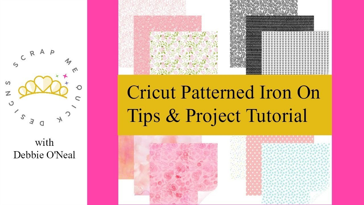 Cricut Patterned Iron On Tips Project Tutorial Youtube