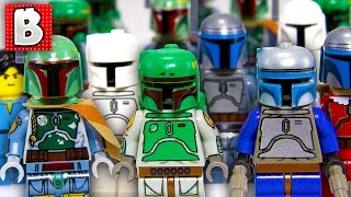 Every Lego Boba Fett & Jango Fett Minifigure Ever!!! + Rare Cloud City Boba | Collection Review