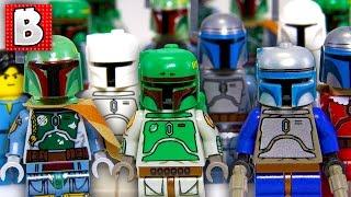 Every Lego Boba Fett & Jango Fett Minifigure Ever!!! + Rare Cloud City Boba | Collection Review