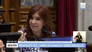Video: Cristina criticó el presupuesto 2019