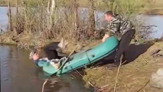 приколы на рыбалке падения рыба пьяные