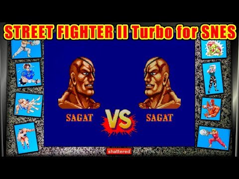 Sagat(佐賀人) ノーコンティニュークリア - STREET FIGHTER II Turbo for SFC/SNES