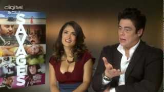 Salma Hayek & Benicio Del Toro 'Savages' interview