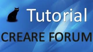 2- Tutorial: Creare un forum
