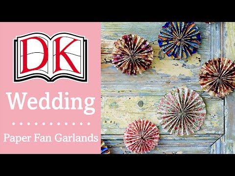 Wedding Decorations: Boho Paper Fan Garlands
