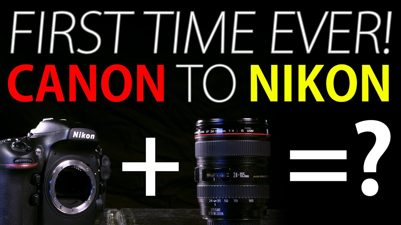 First Time Ever! Canon to Nikon Adapter!