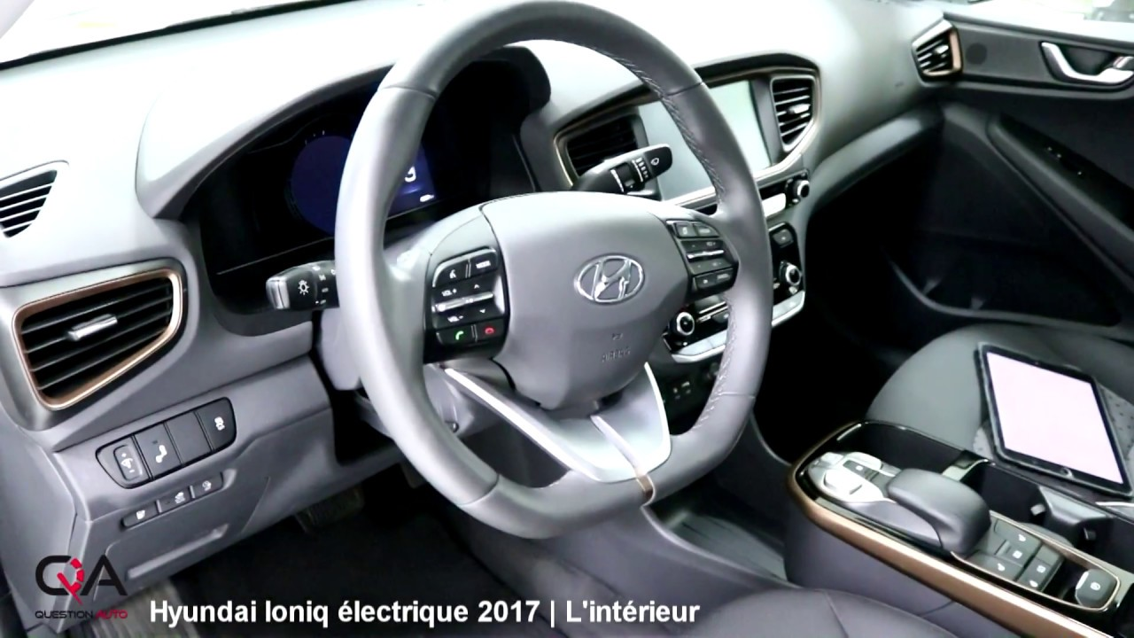 2017 hyundai ioniq lectrique l int rieur essai complet 2 7 youtube. Black Bedroom Furniture Sets. Home Design Ideas