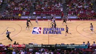 Quarter 3 One Box Video :Spurs Vs. Trail Blazers, 7/14/2017