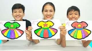 Rainbow Dress Warna Warni Belajar Menggambar dan Mewarnai untuk Anak