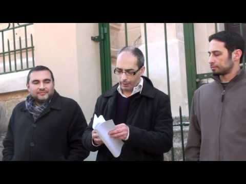 Maltese journalists protest on the situation in Egypt