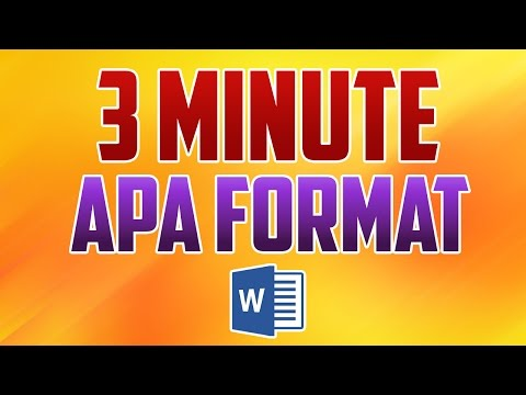 Word 2016 : How to Format Paper in APA Style