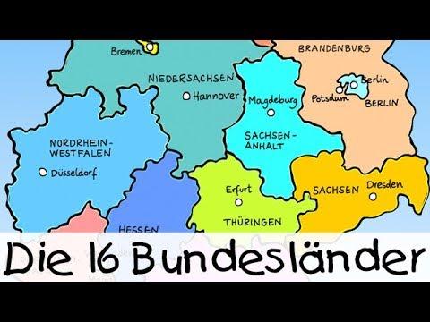 Die 16 Bundeslander Kinderlieder Zum Lernen Youtube