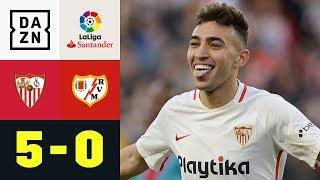 4 Tore in 14 Minuten! Munir wird zum Doppelpacker: FC Sevilla - Rayo Vallecano 5:0 | La Liga | DAZN