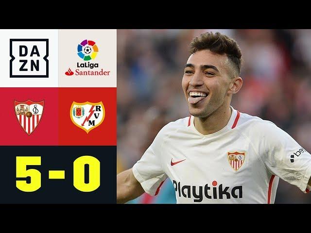 4 Tore in 14 Minuten! Munir wird zum Doppelpacker: FC Sevilla - Rayo Vallecano 5:0   La Liga   DAZN