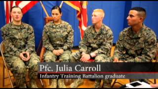 MilitaryTrainingCamps.com - First Three Female Marines Graduate Infantry Training Course