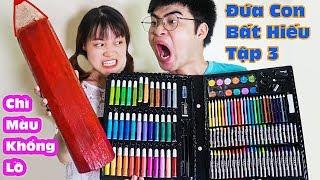 Đứa Con Bất Hiếu Tập 3 - Con Nhà Nghèo Đổi Bút Chì Màu Khổng Lồ Lấy Hộp Bút Màu  Của Con Nhà Giàu