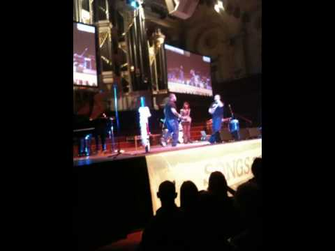 Street Warriors and Robyn Loau performing at Songs For Stories Sydney Town Hall