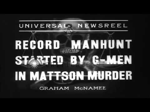 FBI agents search for Charles Mattson's kidnapper and murderer in Everett, Washin...HD Stock Footage
