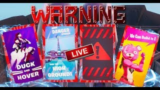 FORTNITE - NEW EVENT WARNING PROPAGANDA POSTERS APPEARING AROUND MAP - CUSTOM GAMES WITH SUBS