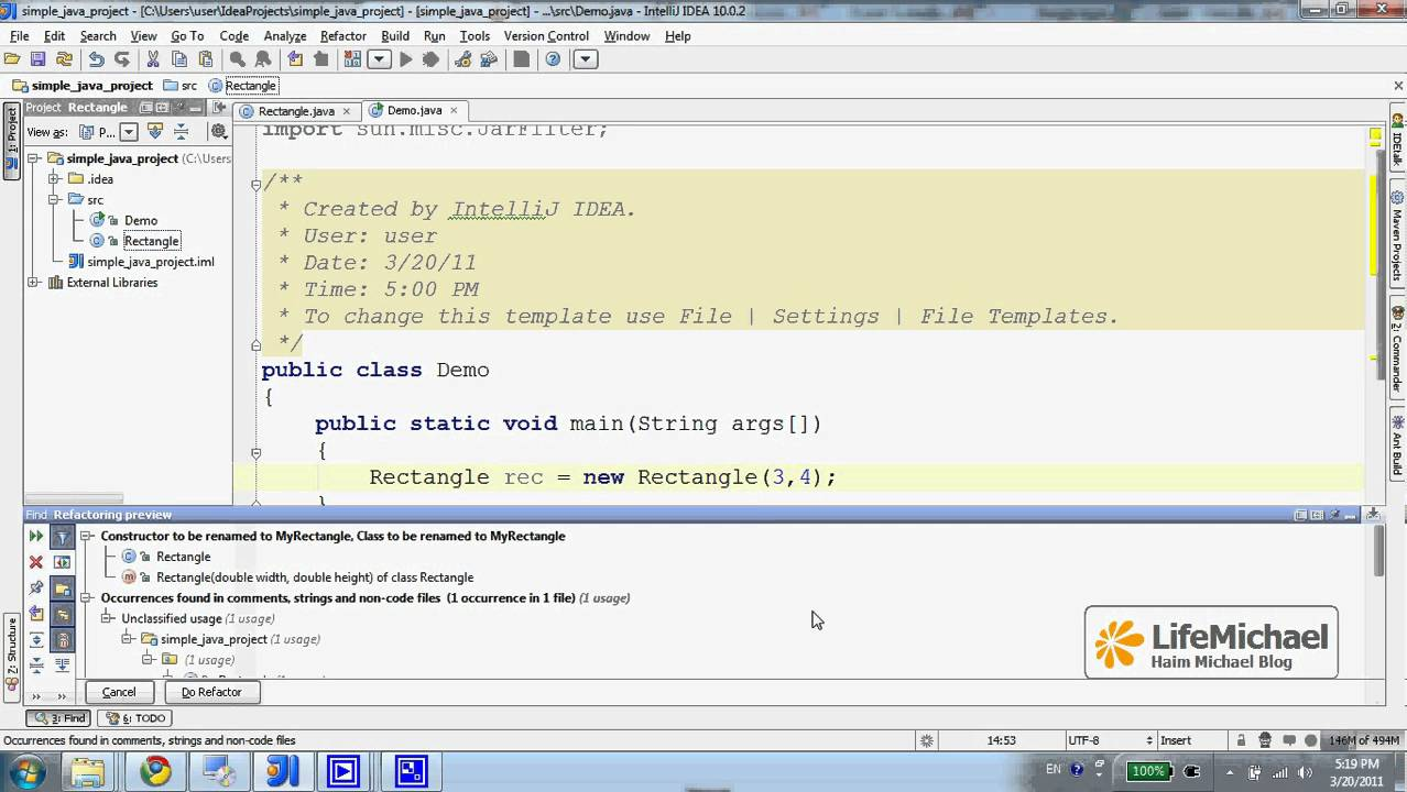 Renaming (Refactoring) Your Classes - YouTube
