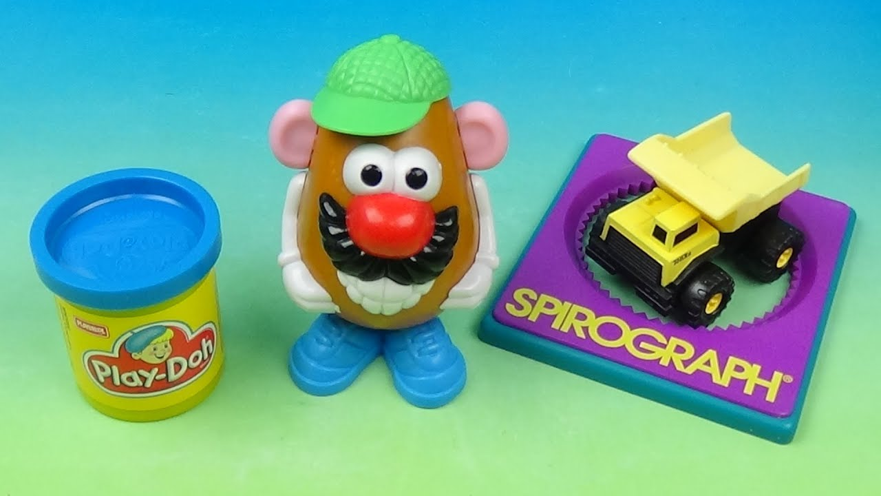 1997 Hardees Classic Toys Set Of 4 Kids Meal Toys Video Review By