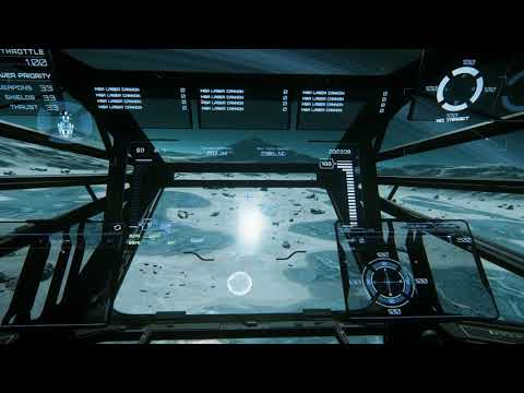 Star Citizen 3.0: Constellation cargo run, navigating with ship holo-display