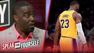 Chris Haynes on LeBron's play in L.A.'s OT loss to San Antonio | NBA | SPEAK FOR YOURSELF