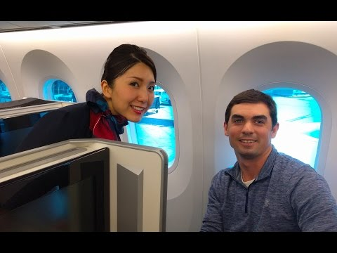 JAL 787 Business Class - Dallas to Tokyo