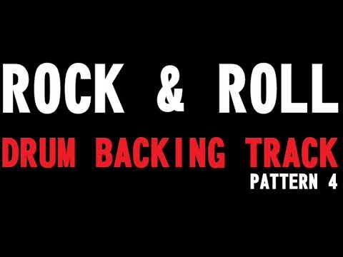 ROCK & ROLL BACKING DRUM TRACK PATTERN 4  -150 BPM-