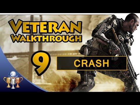 Call of Duty Advanced Warfare - Part 9 Crash - Veteran Walkthrough [60fps]