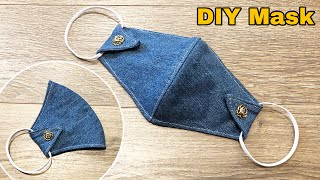 DIY Face Mask from Jeans Face mask sewing tutorial Reuse old clothes