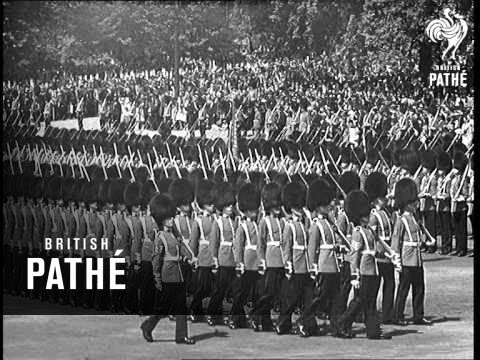 Trooping The Colour On Horse Guards Parade (1938)