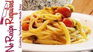 Spaghetti With Tomato And Artichoke - Noreciperequired.com