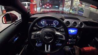 2018 Ford Mustang GT V8 - Night POV Drive