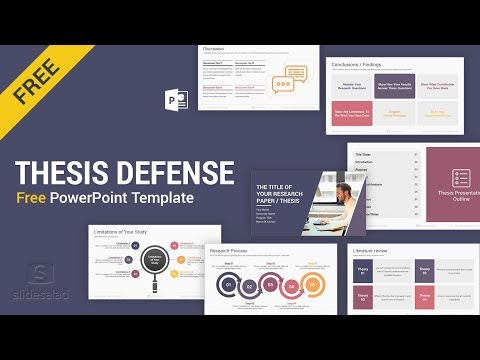 Master's Thesis Defense Free PowerPoint Template Design - SlideSalad from YouTube · Duration:  2 minutes 29 seconds