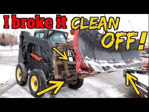 The Time I broke my Snowplow clean off my truck -Snowplowing show