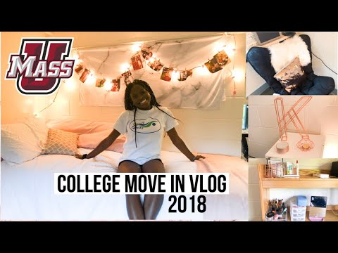 COLLEGE MOVE IN DAY VLOG 2018 (freshman year) - UMASS AMHERST
