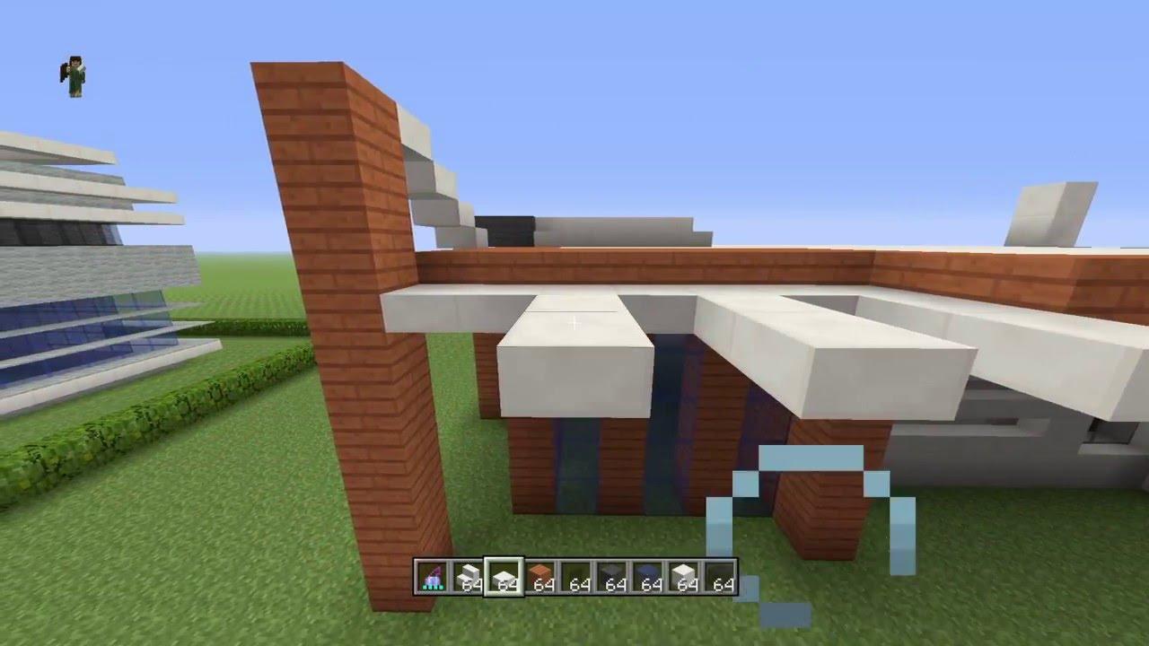 Minecraft tuto maison moderne simple et rapide a faire youtube - Maison minecraft simple ...