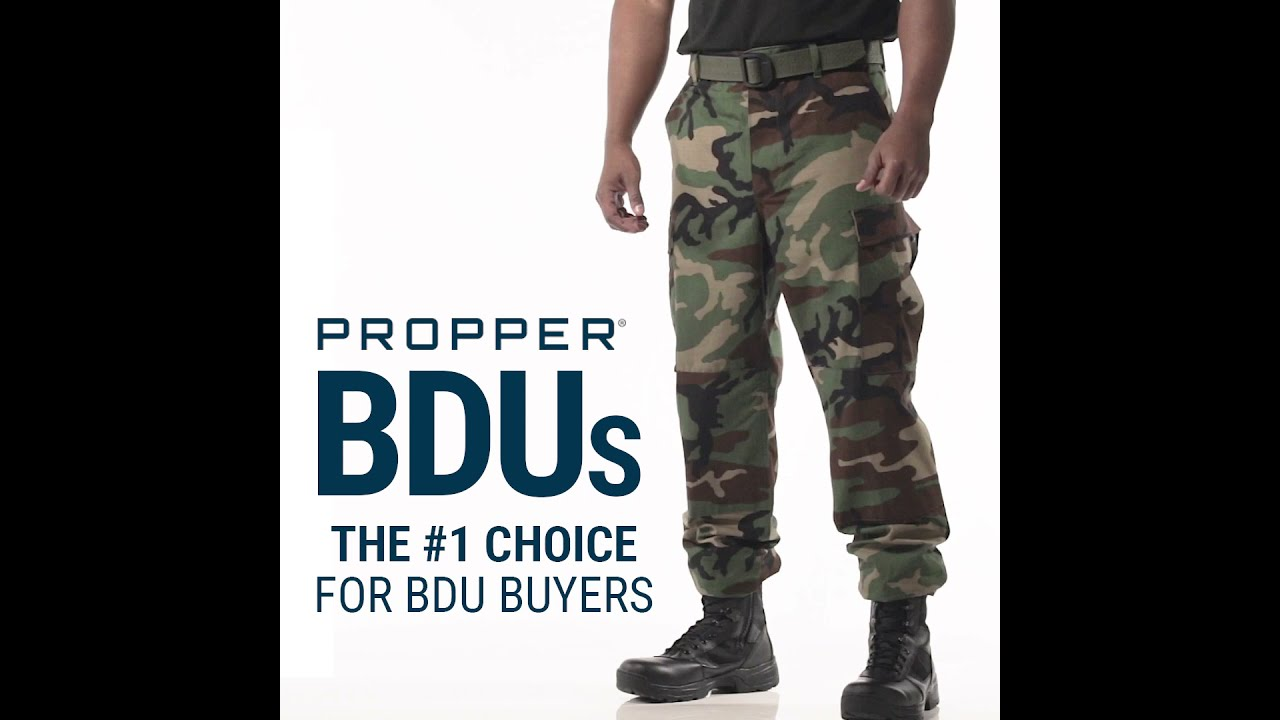 BDU Trouser Features